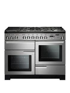 Rangemaster PDL110DFFSS Professional Deluxe 110cmWide Dual Fuel Range Cooker - Stainless Steel