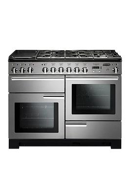 Rangemaster Pdl110Dffss Professional Deluxe 110Cm Wide Dual Fuel Range Cooker - Stainless Steel
