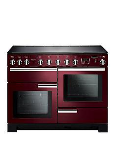 Rangemaster PDL110EICY Professional Deluxe 110cmWide Electric Range Cooker with Induction Hob - Cranberry