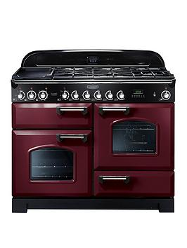 Rangemaster Cdl110Dffcy Classic Deluxe 110Cm Wide Dual Fuel Range Cooker - Cranberry