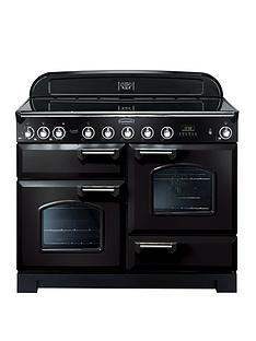 Rangemaster CDL110EIBLClassic Deluxe110cmWide Electric Range Cooker with Induction Hob - Black