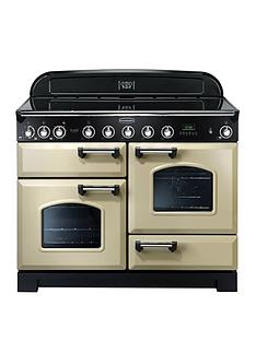 Rangemaster CDL110EICRClassic Deluxe110cmWide Electric Range Cooker with Induction Hob - Cream
