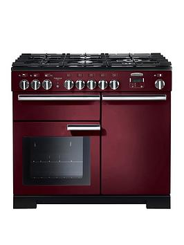 Rangemaster Pdl100Dffcy Professional Deluxe 100Cm Wide Dual Fuel Range Cooker - Cranberry