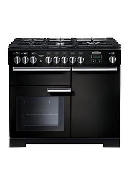 Rangemaster Pdl100Dffgb Professional Deluxe 100Cm Wide Dual Fuel Range Cooker - Black