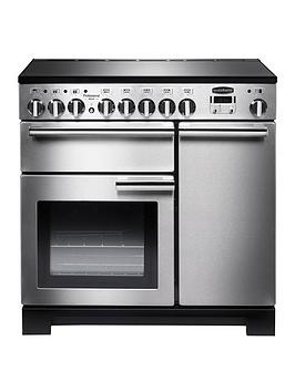 Rangemaster Pdl90Eiss Professional Deluxe 90Cm Wide Electric Range Cooker With Induction Hob - Stainless Steel