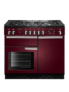Rangemaster  PROP100DFFCY Professional Plus 100cm Wide Dual Fuel Range Cooker - Cranberry