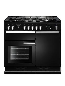 Rangemaster Prop100Dffgb Professional 100Cm Wide Dual Fuel Range Cooker - Black
