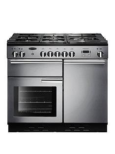 Rangemaster  PROP100DFFSS Professional Plus 100cm Wide Dual Fuel Range Cooker - Stainless Steel
