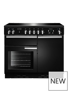 rangemaster-prop100ecbl-professional-plusnbsp100cmnbspwide-electric-range-cooker-black