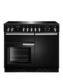 Rangemaster 112360 (PROP100ECBL/C) PROFESSIONAL PLUS 100cm Ceramic Range Cooker, Gloss B/B