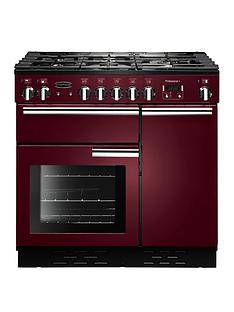 Rangemaster  PROP90DFFCY Professional 90cm Wide Dual Fuel Range Cooker - Cranberry