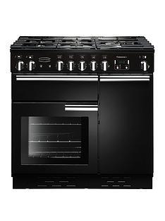Rangemaster PROP90DFFGB Professional Plus90cmWide Dual Fuel Range Cooker - Black
