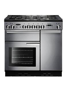 Rangemaster  PROP90DFFSS Professional Plus 90cm Wide Dual Fuel Range Cooker - Stainless Steel