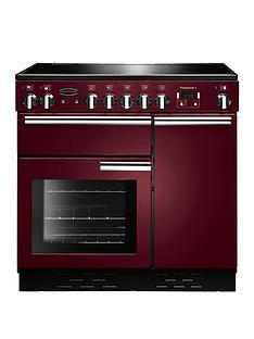 Rangemaster PROP90ECCY Professional Plus 90cmWide Electric Range Cooker - Cranberry