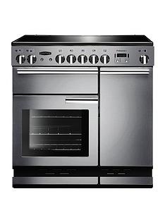 Rangemaster  PROP90ECSS Professional 90cm Wide Electric Range Cooker - Stainless Steel