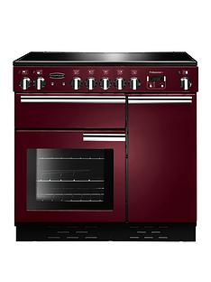 rangemaster-prop90eicynbspprofessional-plusnbsp90cmnbspwide-electric-range-cooker-with-induction-hob-cranberry