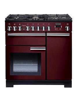 Rangemaster Pdl90Dffcy Professional Deluxe 90Cm Wide Dual Fuel Range Cooker - Cranberry