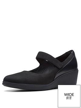 clarks-wide-fit-unstructured-un-tallara-ivy-wedge-shoes-black