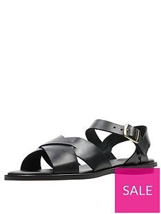 clarks-willow-gild-flat-sandal-black