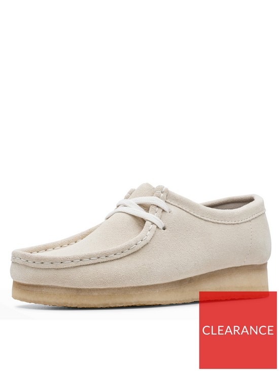 Originals Wallabee Flat Shoes Off White