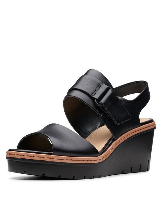ffda0dcf Palm Stellar Wedge Sandals - Black