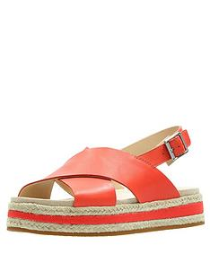 7cd2620deba Clarks Botanic Fay Flat Sandals - Orange