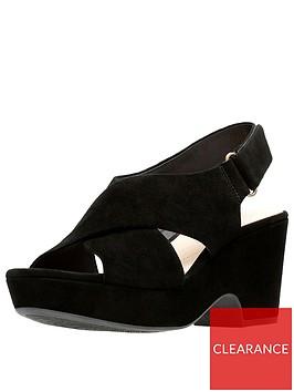 clarks-maritsa-lara-suede-wedge-sandals-black