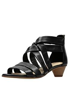 a405bd54cb2 Clarks Mena Silk Sandals - Black