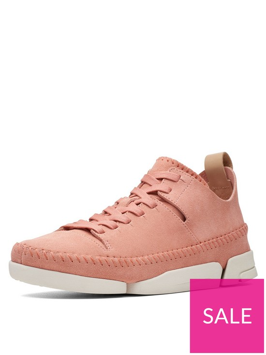 6bbdb61d6d28c Clarks Originals Trigenic Flex Trainers - Coral Suede | very.co.uk