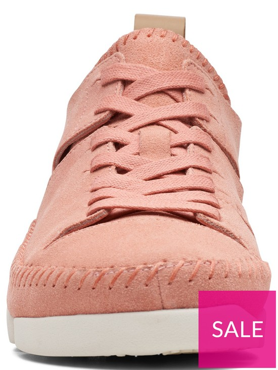 4185c3c317501 ... Clarks Originals Trigenic Flex Trainers - Coral Suede. View larger