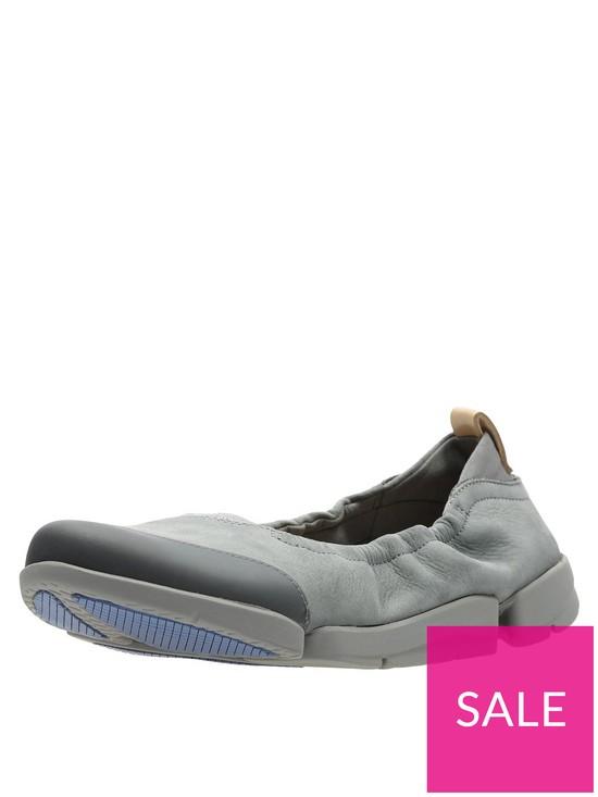 870fc75c33 Clarks Tri Adapt Nubuck Plimsoll Shoes - Grey | very.co.uk