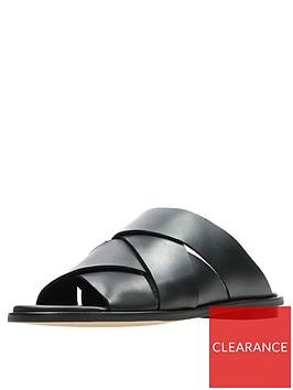 clarks-willow-art-weave-flat-sandal-shoes-black