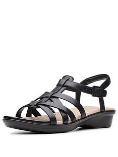 3f154bb3d868 Clarks Loomis Katey Sandals - Black