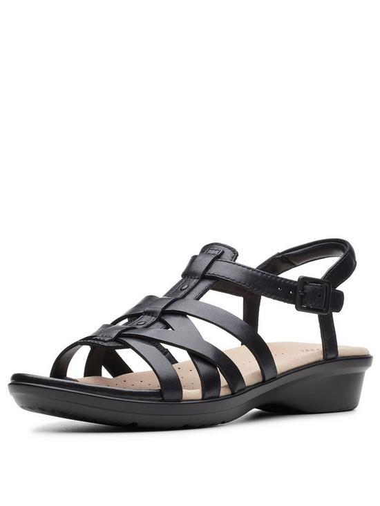 Clarks Loomis Katey Sandals - Black