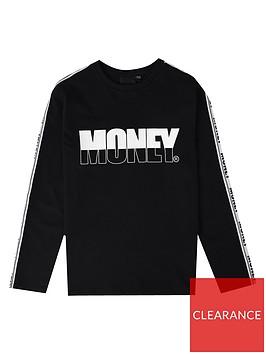 money-boys-long-sleeve-printed-t-shirt-black