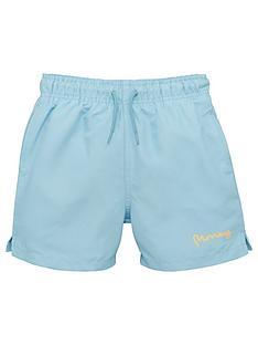 money-boys-classic-signature-swim-shorts-blue