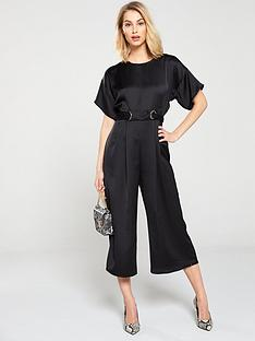ae7c4ae0839f V by Very Eyelet Kimono Sleeve Jumpsuit - Black