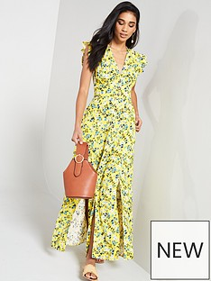 v-by-very-linen-printed-button-through-maxi-dress