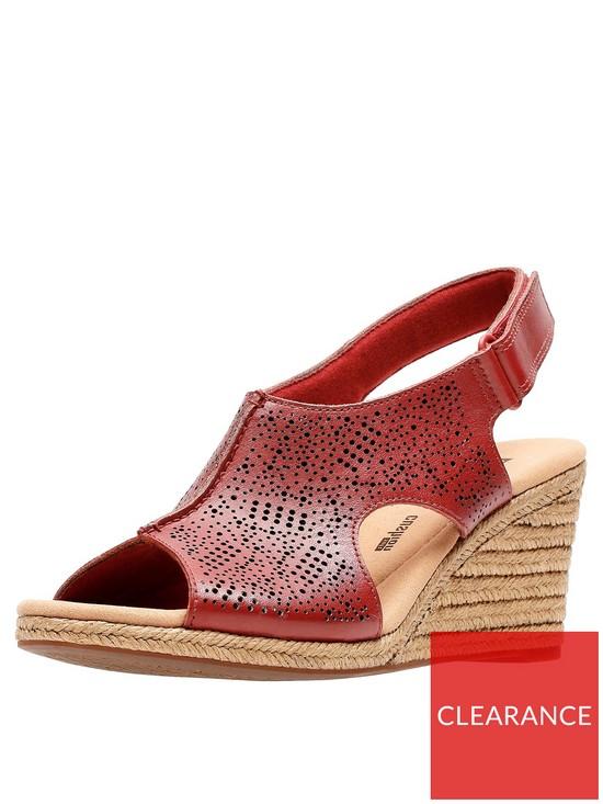 5643ebbed41 Lafley Rosen Wedge Sandals - Red