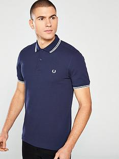 Fred Perry Twin Tipped Polo Shirt - Navy 9b996dde9