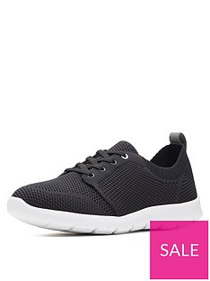 1d9029cc9b242 Clarks Cloudsteppers™ Step Allenasun Trainers - Black/White