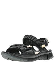 066c1bb3e7d Clarks Tri Walk Flat Sandals - Black