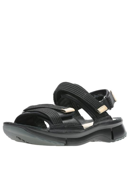 f7a74af1112f Clarks Tri Walk Flat Sandals - Black