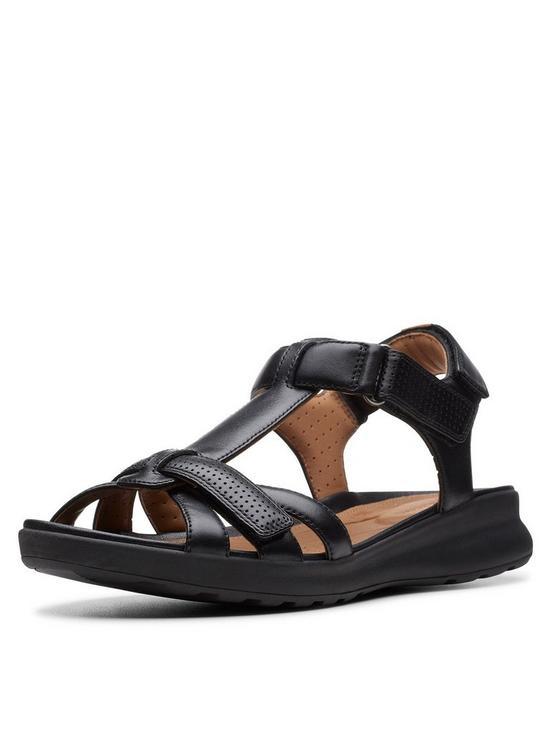 314a9f361084 Clarks Unstructured Un Adorn Vibe Flat Sandals - Black