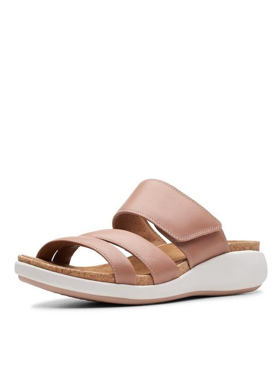Clarks Unstructured Un Bali Way Flat Sandals - Rose