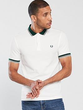 fred-perry-contrast-rib-pique-polo-white