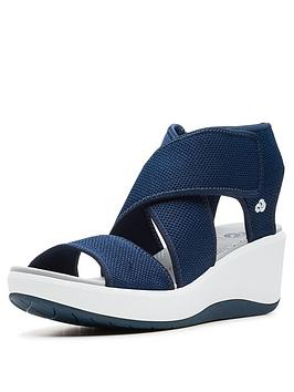 clarks-cloudsteppers-step-cali-palm-wedge-sandals-navy