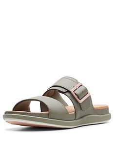361cd914cd01 Clarks Cloudsteppers Step June Tide Flat Sandals - Olive