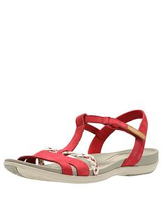 f49c816b107 Clarks Tealite Grace Flat Sandal Shoes - Red