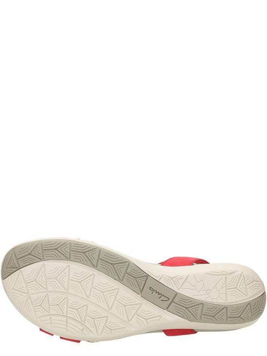 438076ea6d24 ... Clarks Tealite Grace Flat Sandal Shoes - Red. 2 people are looking at  this right now.